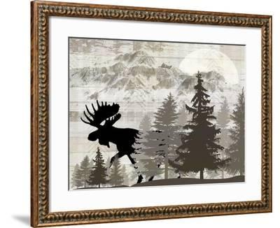 Blue Bear Lodge Sign 013-LightBoxJournal-Framed Giclee Print