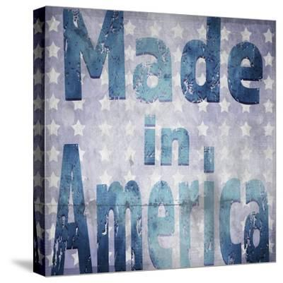 American Born Free Sign Collection V4-LightBoxJournal-Stretched Canvas Print