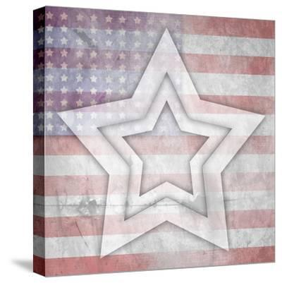 American Born Free Sign Collection V10-LightBoxJournal-Stretched Canvas Print
