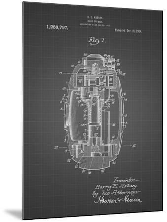 PP868-Black Grid Hand Grenade World War 1 Patent Poster-Cole Borders-Mounted Giclee Print