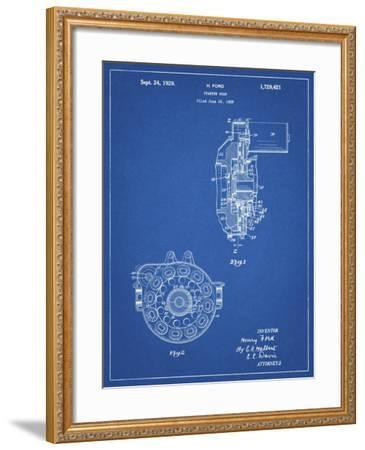 PP833-Blueprint Ford Car Starter Gear 1928 Patent Poster-Cole Borders-Framed Giclee Print