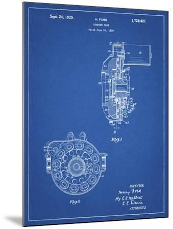 PP833-Blueprint Ford Car Starter Gear 1928 Patent Poster-Cole Borders-Mounted Giclee Print