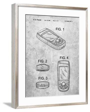 PP862-Slate GPS Device Patent Wall Art Poster PP862-Cole Borders-Framed Giclee Print
