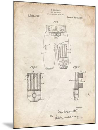 PP828-Vintage Parchment Football Pants Patent Print-Cole Borders-Mounted Giclee Print