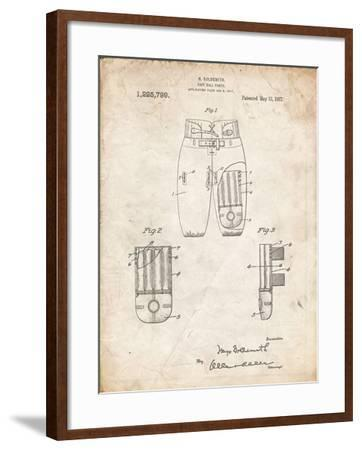 PP828-Vintage Parchment Football Pants Patent Print-Cole Borders-Framed Giclee Print