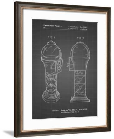 PP864-Black Grid Gumball Machine Poster-Cole Borders-Framed Giclee Print
