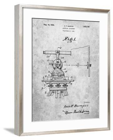 PP865-Slate Gurly Transit Patent Poster-Cole Borders-Framed Giclee Print