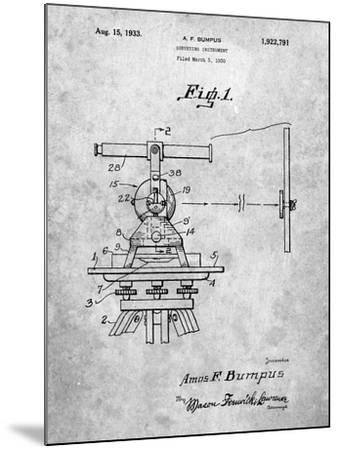 PP865-Slate Gurly Transit Patent Poster-Cole Borders-Mounted Giclee Print