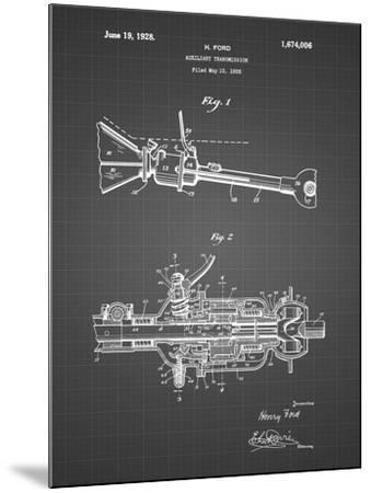 PP831-Black Grid Ford Auxiliary Transmission Patent Poster-Cole Borders-Mounted Giclee Print