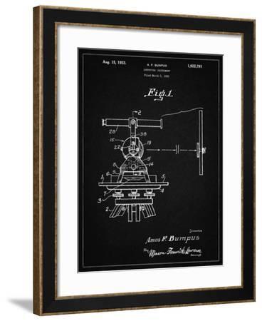 PP865-Vintage Black Gurly Transit Patent Poster-Cole Borders-Framed Giclee Print