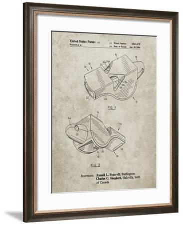 PP851-Sandstone Fox 40 Coach's Whistle Patent Poster-Cole Borders-Framed Giclee Print