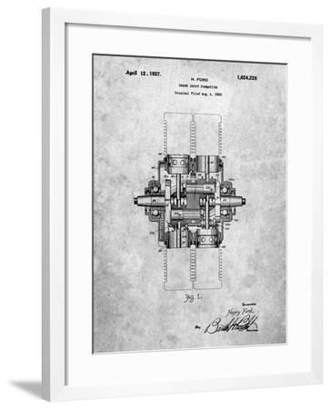 PP838-Slate Ford Crank Shaft 1920 Patent Poster-Cole Borders-Framed Giclee Print