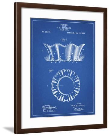 PP874-Blueprint Haviland Salad Bowl 1893 Patent Poster-Cole Borders-Framed Giclee Print