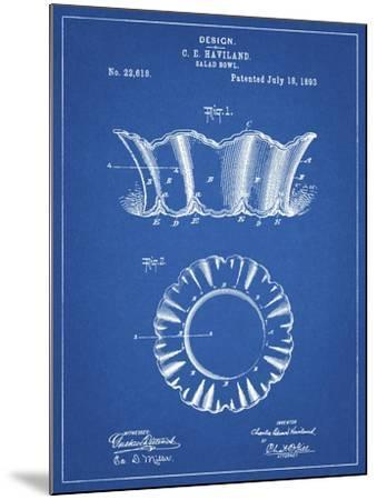 PP874-Blueprint Haviland Salad Bowl 1893 Patent Poster-Cole Borders-Mounted Giclee Print