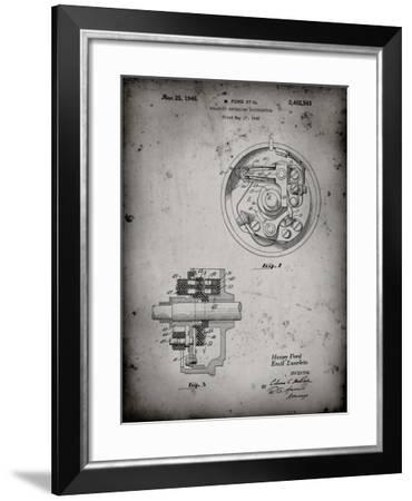 PP839-Faded Grey Ford Distributor 1946 Patent Poster-Cole Borders-Framed Giclee Print