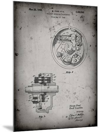 PP839-Faded Grey Ford Distributor 1946 Patent Poster-Cole Borders-Mounted Giclee Print