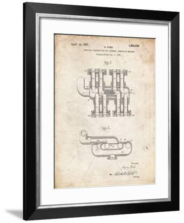 PP832-Vintage Parchment Ford Car Manifold 1920 Patent Poster-Cole Borders-Framed Giclee Print