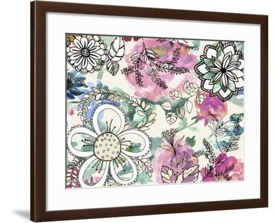 Graphic Flowers-Marietta Cohen Art and Design-Framed Giclee Print