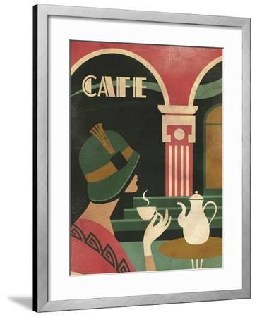 Art Deco Cafe-Martin Wickstrom-Framed Giclee Print