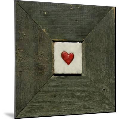 Hearts' Desire Green-lovISart-Mounted Giclee Print