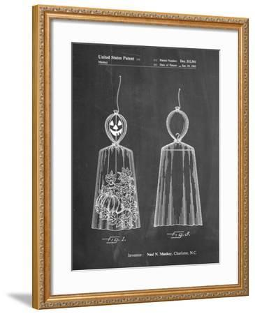 PP895-Chalkboard Jack O'Lantern Patent Poster-Cole Borders-Framed Giclee Print
