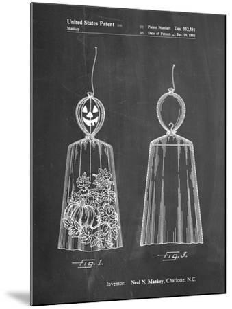 PP895-Chalkboard Jack O'Lantern Patent Poster-Cole Borders-Mounted Giclee Print