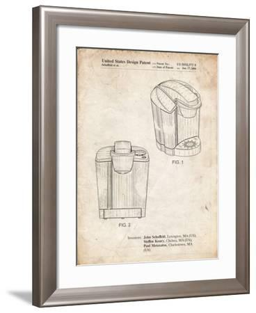 PP905-Vintage Parchment Keurig Coffee Brewer Patent Poster-Cole Borders-Framed Giclee Print