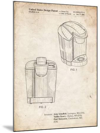 PP905-Vintage Parchment Keurig Coffee Brewer Patent Poster-Cole Borders-Mounted Giclee Print