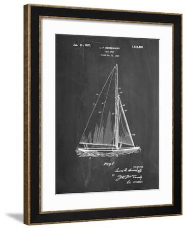 PP878-Chalkboard Herreshoff R 40' Gamecock Racing Sailboat Patent Poster-Cole Borders-Framed Giclee Print