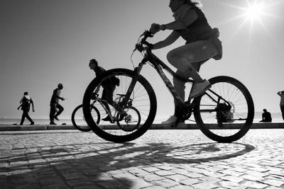 Bike on Lisbon-Moises Levy-Framed Giclee Print