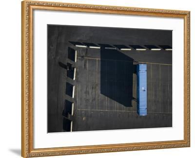 Blue Boxes 4-Moises Levy-Framed Giclee Print