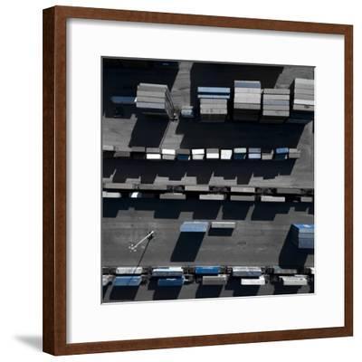 Blue Boxes 5-Moises Levy-Framed Giclee Print