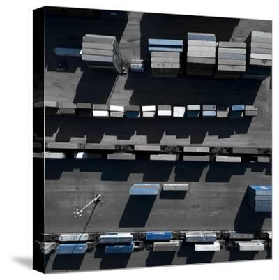 Blue Boxes 5-Moises Levy-Stretched Canvas Print