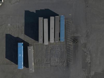 Blue Boxes 1-Moises Levy-Framed Giclee Print