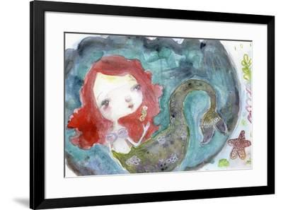 Serenity Mermaid-Mindy Lacefield-Framed Giclee Print