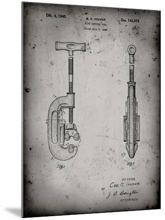 PP986-Faded Grey Pipe Cutting Tool Patent Poster-Cole Borders-Mounted Giclee Print