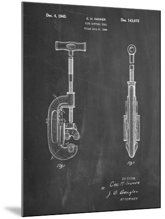 PP986-Chalkboard Pipe Cutting Tool Patent Poster-Cole Borders-Mounted Giclee Print