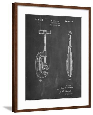 PP986-Chalkboard Pipe Cutting Tool Patent Poster-Cole Borders-Framed Giclee Print
