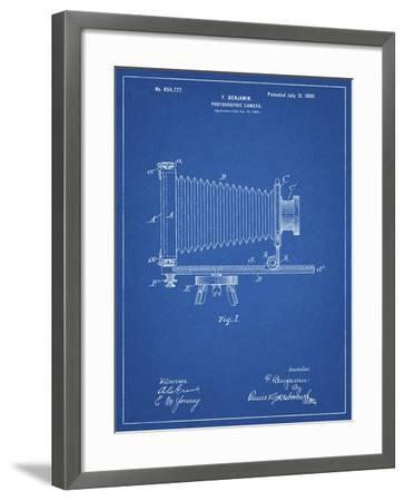 PP985-Blueprint Photographic Camera Patent Poster-Cole Borders-Framed Giclee Print