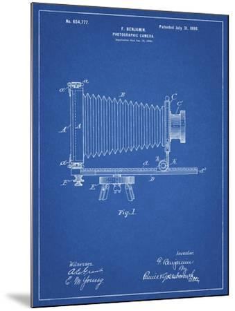 PP985-Blueprint Photographic Camera Patent Poster-Cole Borders-Mounted Giclee Print