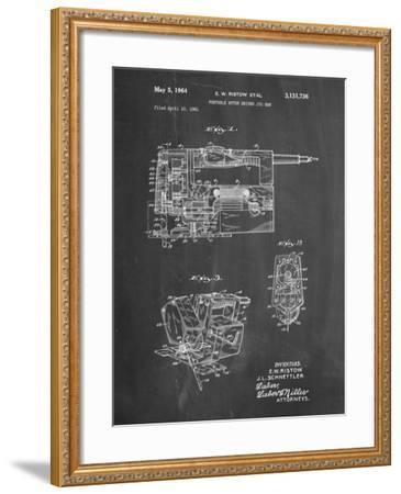 PP957-Chalkboard Milwaukee Portable Jig Saw Patent Poster-Cole Borders-Framed Giclee Print