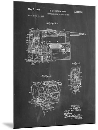 PP957-Chalkboard Milwaukee Portable Jig Saw Patent Poster-Cole Borders-Mounted Giclee Print