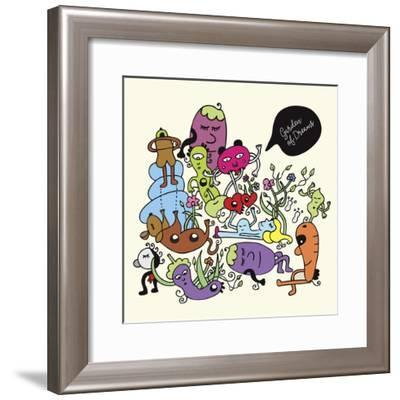 Garden Of Dreams-Oodlies-Framed Giclee Print