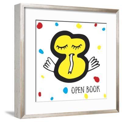 Open Book-Oodlies-Framed Giclee Print