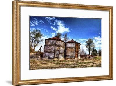 Grain Storage Bins-Randy Waln-Framed Giclee Print