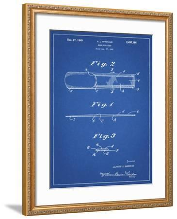 PP1010-Blueprint Reed Patent Poster-Cole Borders-Framed Giclee Print