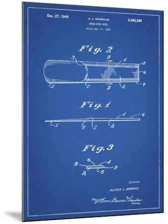 PP1010-Blueprint Reed Patent Poster-Cole Borders-Mounted Giclee Print