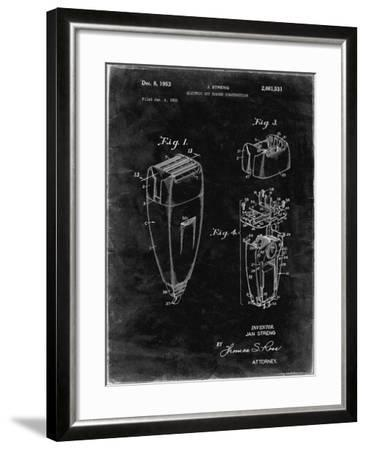 PP1011-Black Grunge Remington Electric Shaver Patent Poster-Cole Borders-Framed Giclee Print