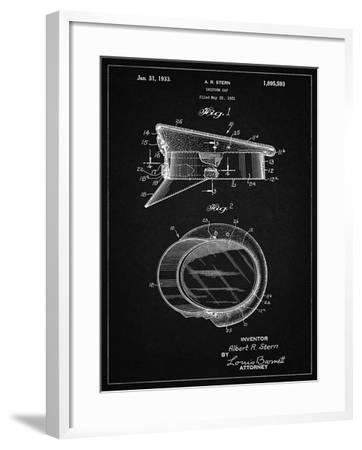 PP993-Vintage Black Police Hat 1933 Patent Poster-Cole Borders-Framed Giclee Print