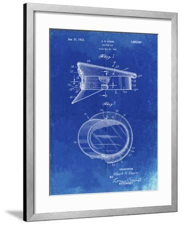 PP993-Faded Blueprint Police Hat 1933 Patent Poster-Cole Borders-Framed Giclee Print